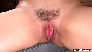 Hot ass hairy Milf fucking machine