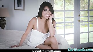 ExxxtraSmall - Tiny Little Asian Gets Drilled By A Huge Cock - Ember Snow