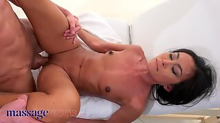 Massage Rooms, Tiny Thai beauty Suzie Q covered in cum