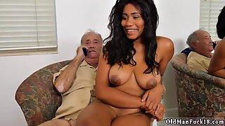 Old mature Glenn ends the job! - Jenna J. Foxx