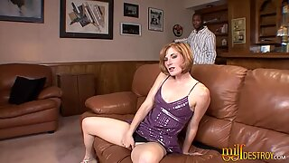 Redhead Mom goes Interracial
