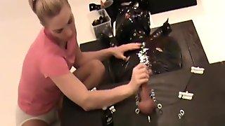 Handjob bondage
