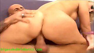 bubble butt oily ass blond with big coconuts gets fucked and cum