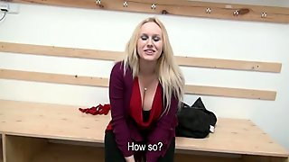 Euro slut pussy and ass railed for money