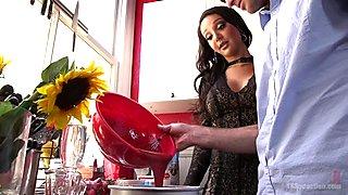 Sexy Ebony TS Homemaker Makes Jonah Her Cumslut