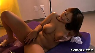 Huge boobs brunette has a titty fuck to give out