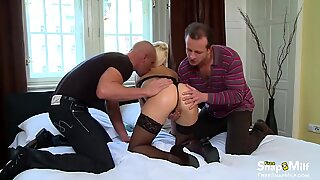 Intense Dp Fuck for a Hot Blonde Milf