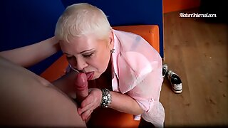 BBW granny getting anally plowed form behind