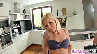 Givemepink hot blonde enjoys anal toying