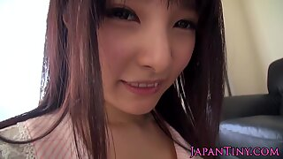 Japanese tiny babes hairypussy fingered