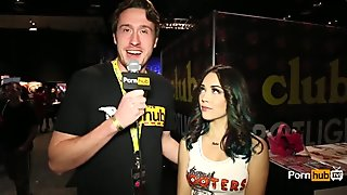 PornhubTV Kristina Rose Interview at eXXXotica 2014 Atlantic City