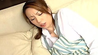 Office whore Tomoe Hinatsu fucks missionary style after giving blowjob