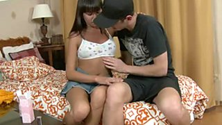 Erica doesn't mind if horny guy Matthew goes down on her