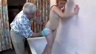 Grandad Loves Her Sumptious Pussy And Tight Ass !