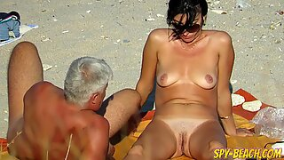 Gorgeous Amateur Nude Beach Voyeur Close Up Pussy