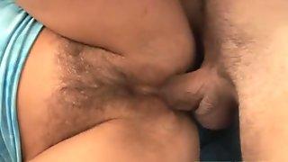 She loves having cock in bushy butthole