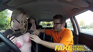 Fake Driving School Teen student creampie after lesson