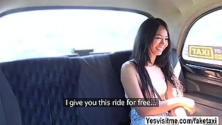 Thai Jureka have sex with the cab driver in the backseat