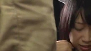Nice Japanese AV model is a teen enjoying sex