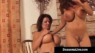 Big Boobed Cougar Deauxma & Goldie Blair Do Boob Comparison!