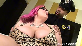 Goth Bbw Milf Fucks Black Police Officer