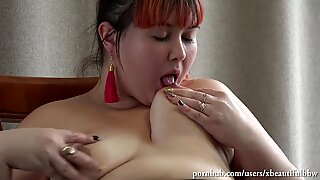 youthfull wondrous secretary bbw, ass-fuck with toy