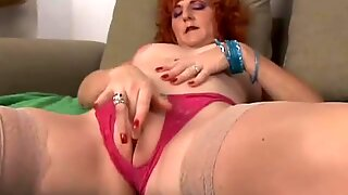 killer old spunker is a squirter when she strokes
