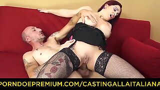 CASTING ALLA ITALIANA - Busty newbie goes for anal sex