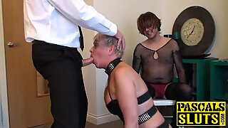 Chubby milf with a short hair receives a BDSM treatment