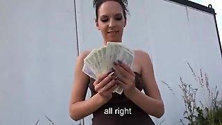 Eurobabe Ebbi twat nailed hard for money