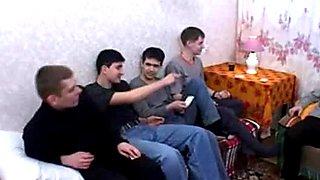 5 russian boyz fuck a wicked mature