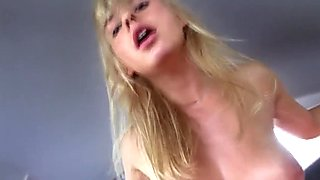 Pulled european model cockriding in car