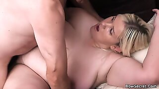 plumper Liz railing manhood and cum in mouth - part3