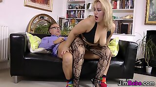 Chubby stockings ho spits