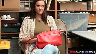 Teen shoplifts and mom comes in to solve the problem