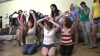 Girls punished with spanking and strapon