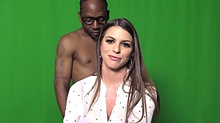 Brooklyn Chase Gets Black Cocks To Fuck In A Restroom