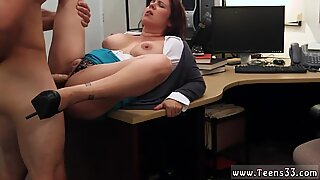 Blonde amateur MILF sells her husband s stuff for bail $$$