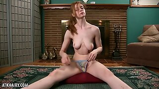 Nika's red headed pube play