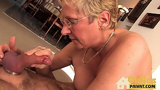 Blonde granny gets fucked