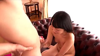 Asian cutie pissed on by old guy