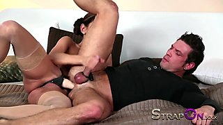 Strapon - Pegging ass fucked by Rachel Evans