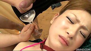Cum COCK-teil for Asian slut Yukina Momose