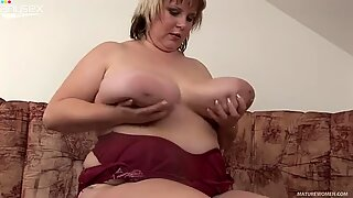 Fat and horny milf Juliana has jugs like a gallon of milk
