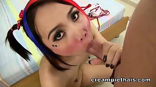 jizz greedy Thai nymph wants to be inseminated