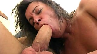Hot Old Bitch Fucks Stepson And Friend
