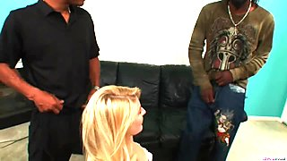 Heather Gables gets two black cocks to fuck