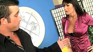 Greedy asshole eater Eva Karera licks Billy Glide's shaved asshole