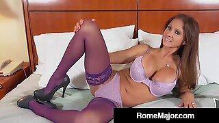 cuckold Rio Blaze poked By dark-hued Bull Hotel Guy Rome Major!