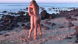 Amateur lesbos outdoors